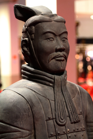 Ancient chinese statue soldier, copy and imitation Archivio Fotografico
