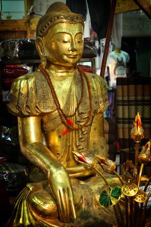 Buddha gold souvenir from India Editoriali