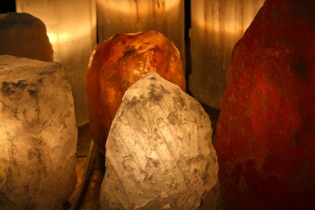 Himalayan pink salt lamp for meditation and concentration