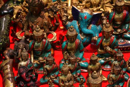 Buddha gold souvenir from India Archivio Fotografico