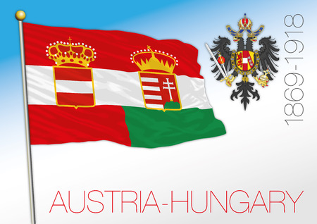 Austria and Hungary empire historical flag illustration Archivio Fotografico - 101083696