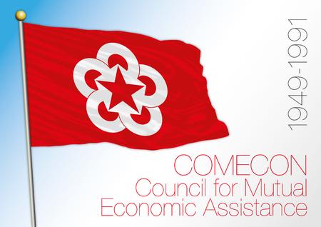 Comecon council historical flag, 1949-1991 Archivio Fotografico - 101083685