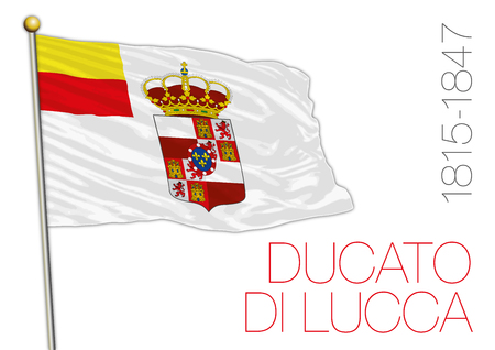Duchy of Lucca historical flag, Tuscany, Italy, 1815 Archivio Fotografico - 101083686