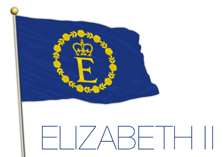 Elizabeth II flag, United Kingdom Archivio Fotografico - 101232249