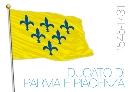 Duchy of Parma and Piacenza, historical flag, Italy Archivio Fotografico - 101232255