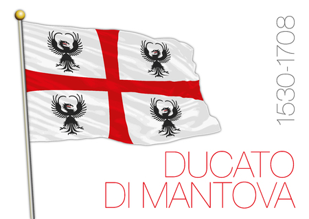 Duchy of Mantua, historical flag, Italy Archivio Fotografico - 101232257