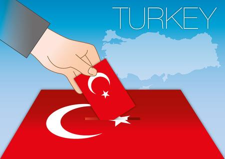 Turkey, ballot box with flag and symbols Archivio Fotografico - 101736949