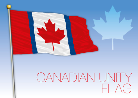 Canada unity or duality flag, unoffician, Canada Archivio Fotografico - 102050833
