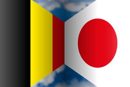 Belgium VS Japan, Russia 2018, eighths of final Archivio Fotografico - 103996236