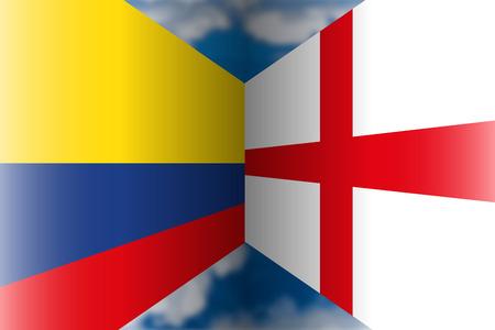 Colombia VS England Archivio Fotografico - 103996233