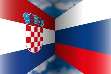 Croatia VS Russia Archivio Fotografico - 103996235