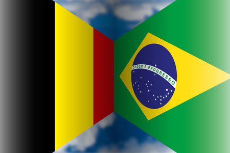 Belgium VS Brazil Archivio Fotografico - 103996239