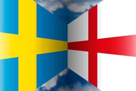 Sweden VS England, Russia 2018, quarter finals Archivio Fotografico - 104452779