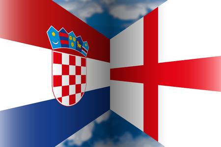 Croatia VS England Archivio Fotografico - 104462531