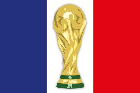 Bandiera della Francia illustrazione vettoriale
