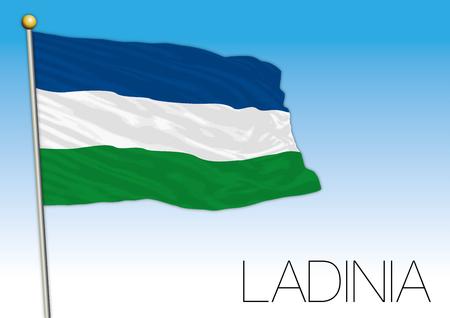 Ladinia regional flag, Italy Imagens - 105626653