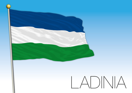 Ladinia regional flag, Italy Illustration