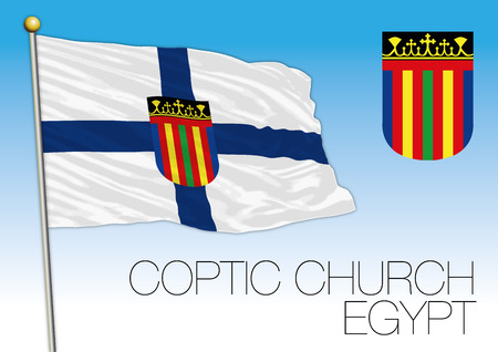 Egyptian Coptic church flag and seal