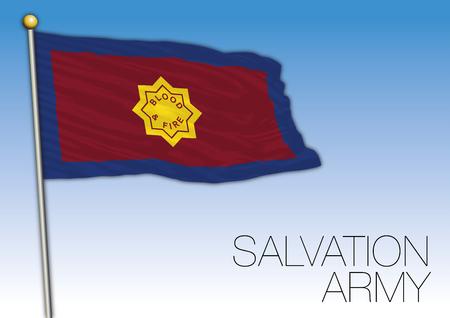 Bandiera dell'Esercito della Salvezza, illustrazione vettoriale