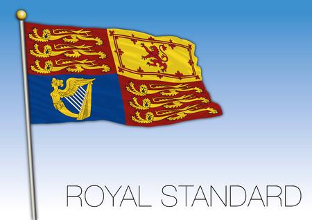 Royal Standard flag ensign, United Kingdom, vector illustration