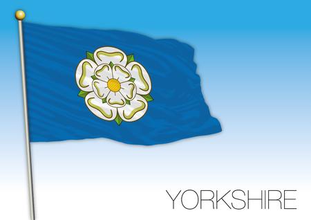 Yorkshire regional flag, United Kingdom, vector illustration