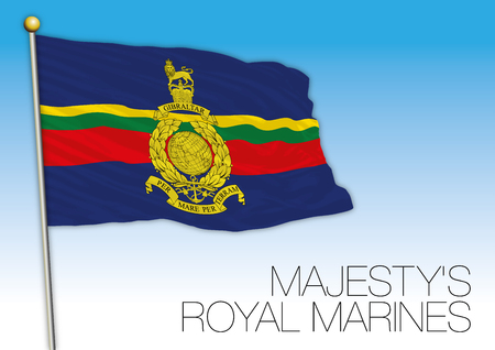 Royal Marines flag, United Kingdom, vector illustration