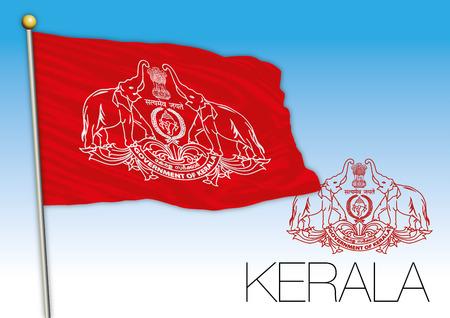Kerala regional flag, India Illustration