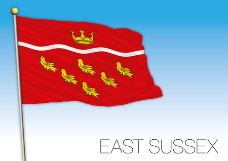 East Sussex flag, United Kingdom, vector illustration