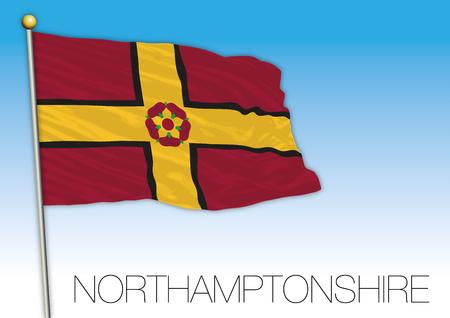 Northamptonshire flag, United Kingdom, vector illustration