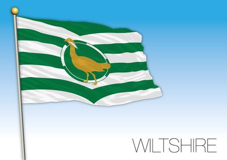 Wiltshire county flag, United Kingdom, vector illustration