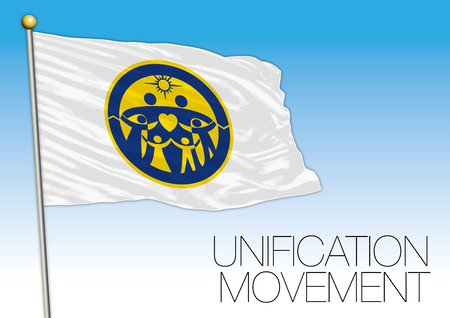 Unification movement flag, vector illustration