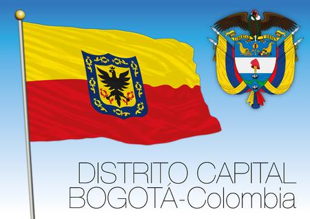 Distrito Capital regional flag, Colombia, vector file, illustration