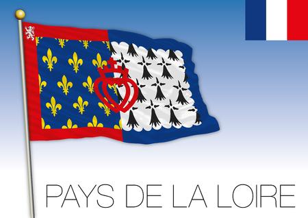 Pays de la Loire regional flag, France, vector illustration Illustration