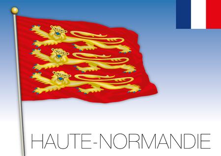 Haut Normandie regional flag, France, vector illustration Ilustrace