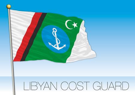 Armada de bandera de la guardia costera libia, ilustración vectorial Ilustración de vector