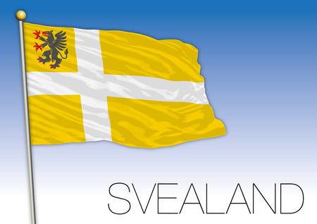 Svealand regional flag, Sweden, vector illustration Illustration