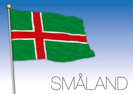 Smaland regional flag, Sweden, vector illustration Illustration