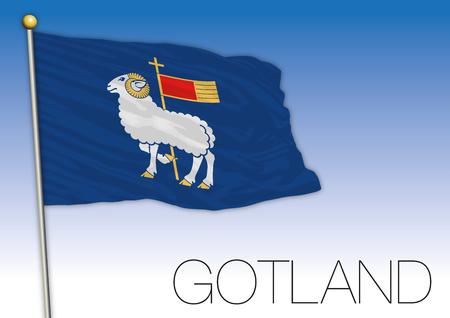 Gotland regional flag, Sweden, vector illustration