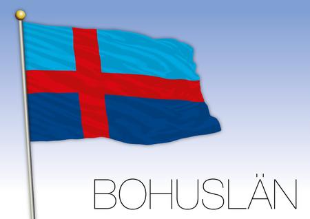 Bohusland regional flag, Sweden, vector illustration