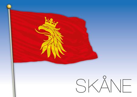Scania regional flag, Sweden, vector illustration Illustration