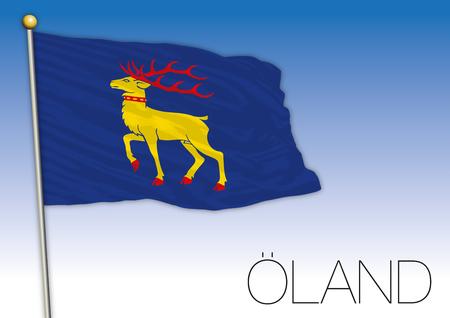 Oland regional flag, Sweden, vector illustration Illustration