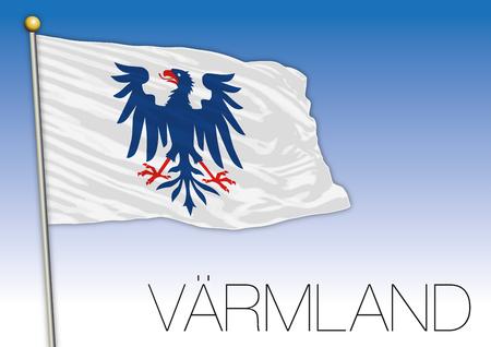 Varmland regional flag, Sweden, vector illustration