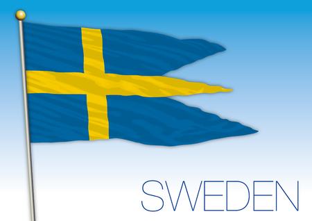 Sweden military flag, Sweden, vector illustration