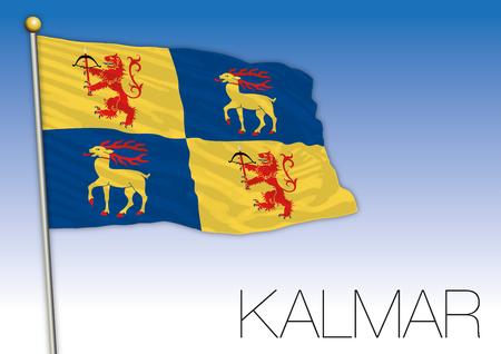Kalmar regional flag, Sweden, vector illustration