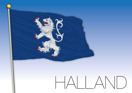 Halland regional flag, Sweden, vector illustration