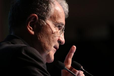 Modena, Italy, April 2019 - Romano Prodi, public conference on the future of the European Union