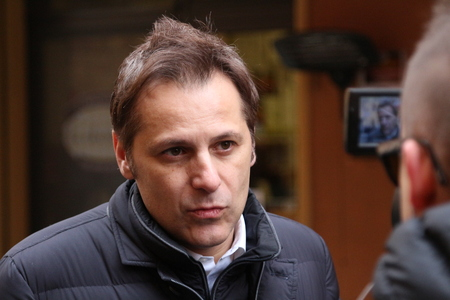MODENA, ITALY, FEBRUARY 20, 2108 - Armando Siri, Lega Nords political economy manager of Flat Tax