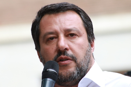 Matteo Salvini, Modena - Italy, May 3, 2019: public politic conference Lega party