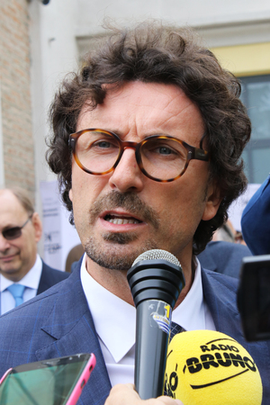 MODENA, ITALY, May 17 2019 - Danilo Toninelli, Italian minister, visit Motor Valley exhibition