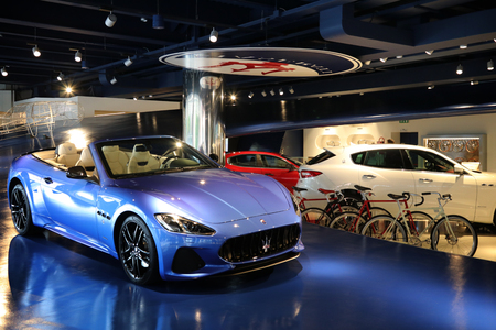 MODENA, ITALY, May 2019 - Motor Valley Fest exhibition, Maserati showroom Archivio Fotografico - 124582460